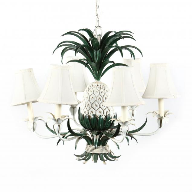 vintage-tole-pineapple-chandelier