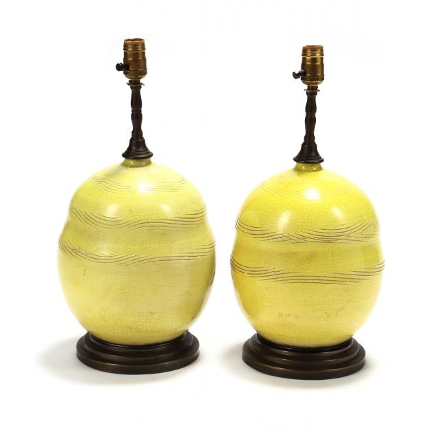 pair-of-french-mid-century-pottery-table-lamps