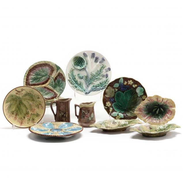 a-group-of-eleven-late-19th-century-majolica