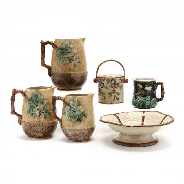 six-pieces-of-antique-majolica