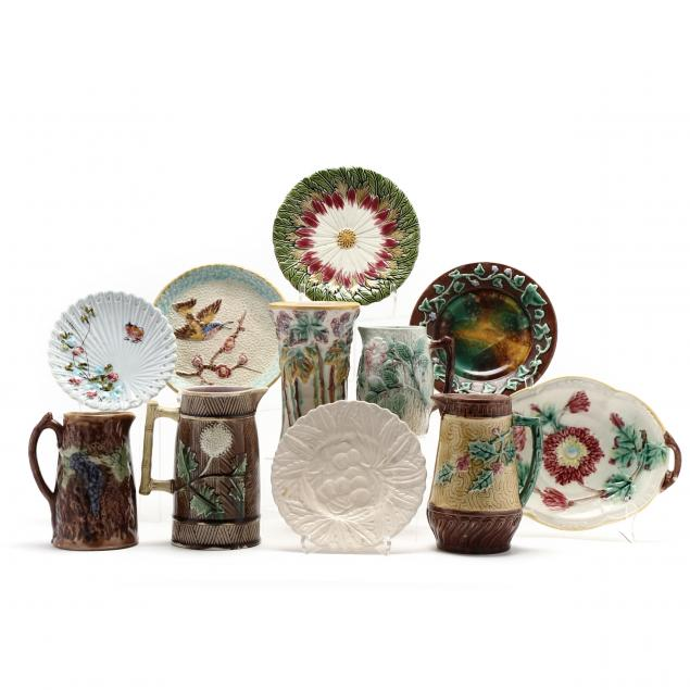 a-group-of-antique-majolica