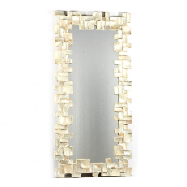 large-brutalist-style-abalone-shell-framed-mirror