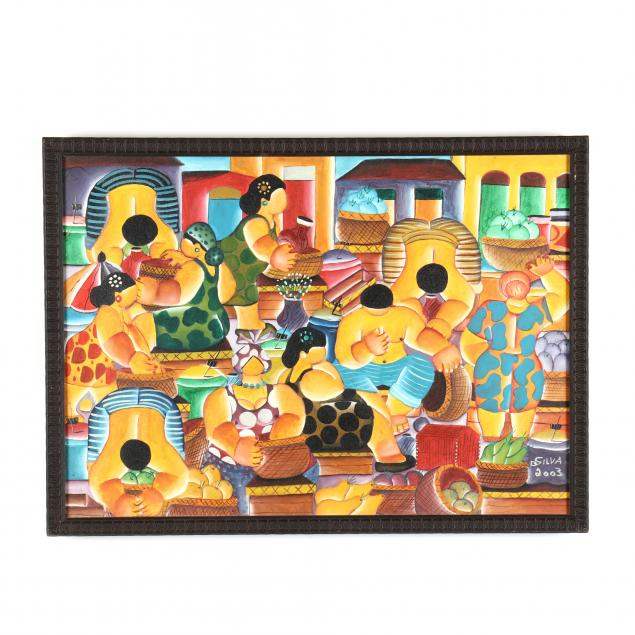 spanish-figural-market-painting-signed-dsilva