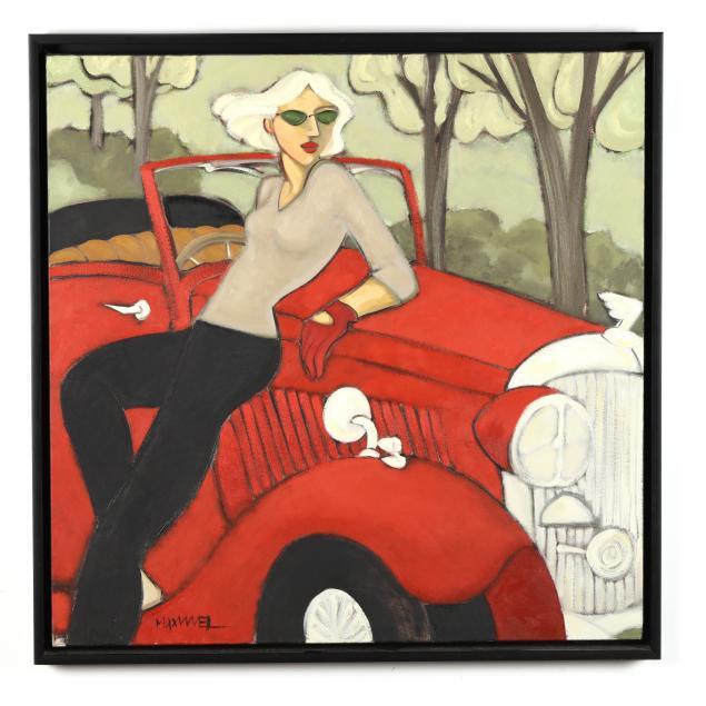 marsha-hammel-nc-fl-born-1949-woman-with-red-car