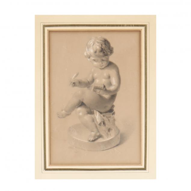 j-h-parris-english-19th-century-a-drawing-of-a-putti