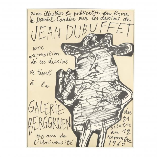 after-jean-dubuffet-french-1901-1985-galerie-berggruen-exhibition-poster