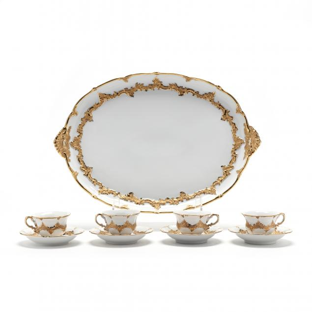 a-meissen-gilt-decorated-set-of-tea-tray-and-tea-cups