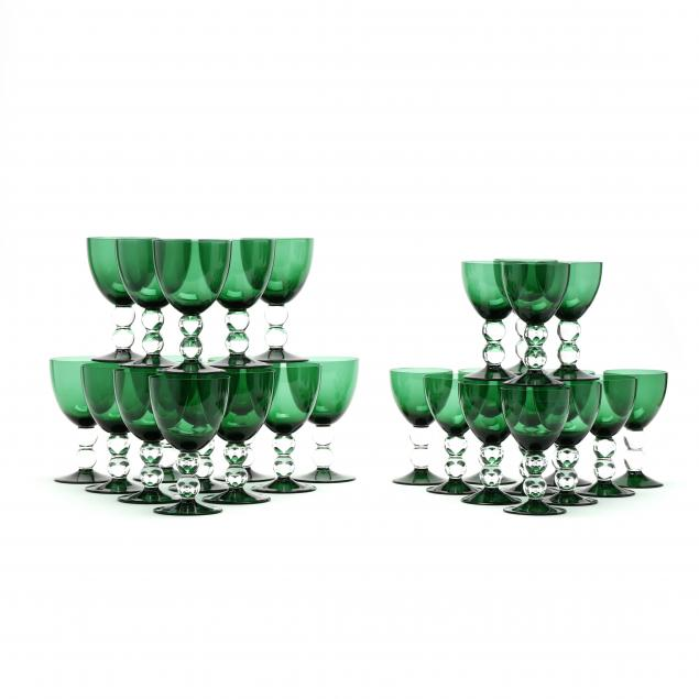 thomas-goode-set-of-29-emerald-green-goblets