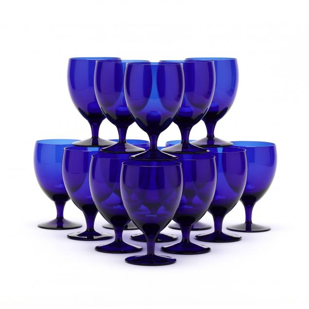 set-of-fifteen-cobalt-water-goblets