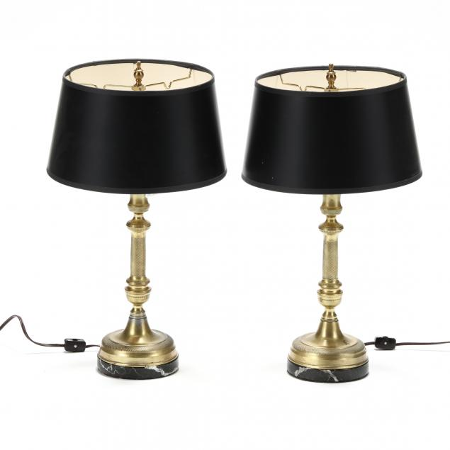 pair-of-brass-and-marble-candlestick-lamps