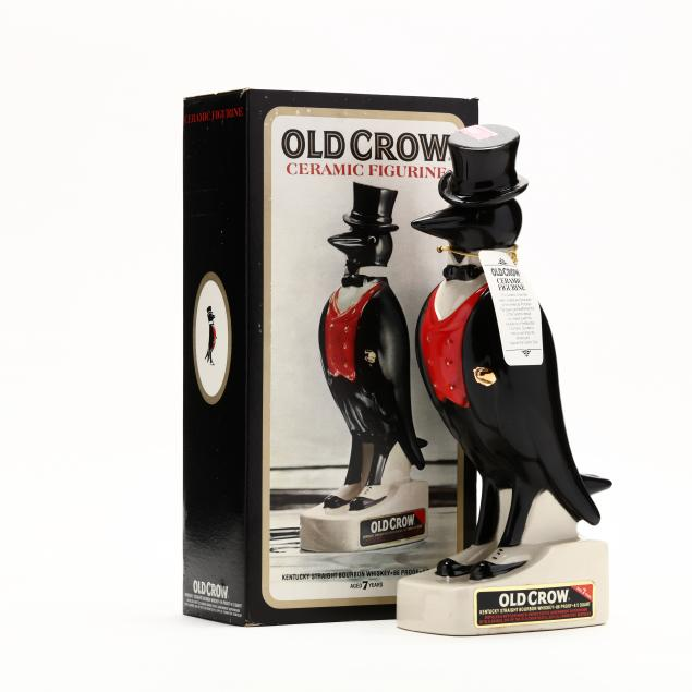 old-crow-bourbon-whiskey-in-royal-doulton-ceramic-crow-decanter