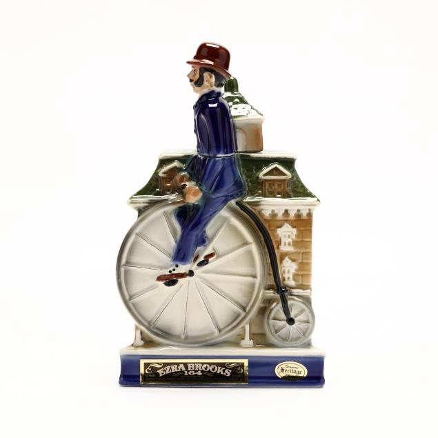 ezra-brooks-whiskey-in-penny-farthing-decanter