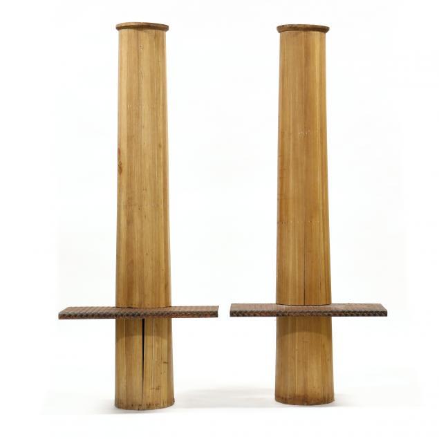 pair-of-altered-vintage-pine-columns