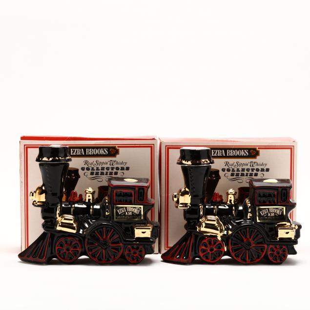 ezra-brooks-whiskey-in-iron-horse-train-decanters