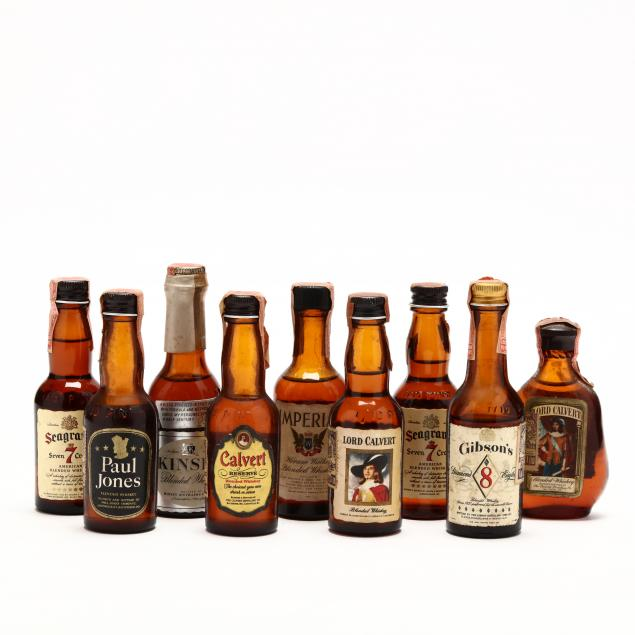 vintage-american-whiskey-miniature-collection