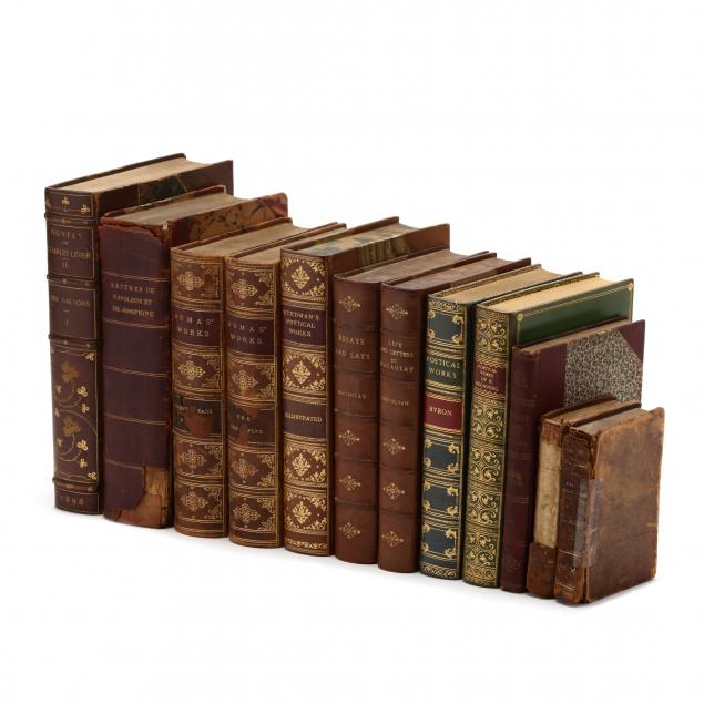 twelve-antique-and-vintage-books-in-leather-bindings