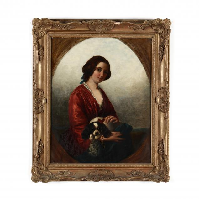 a-victorian-portrait-of-a-young-woman-with-cavalier-king-charles-spaniel