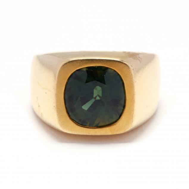 gent-s-18kt-gold-and-green-sapphire-ring