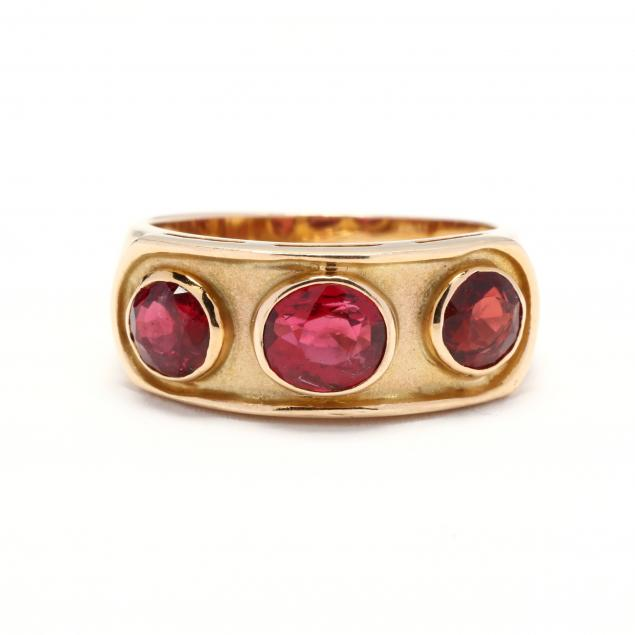 14kt-gold-and-red-spinel-ring