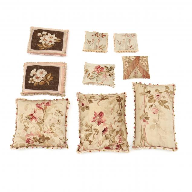nine-assorted-aubusson-pillows