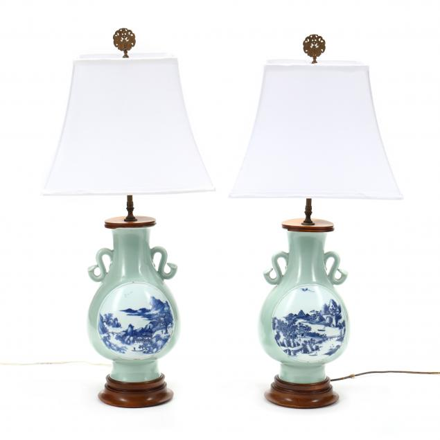 pair-of-chinese-celadon-porcelain-vase-table-lamps