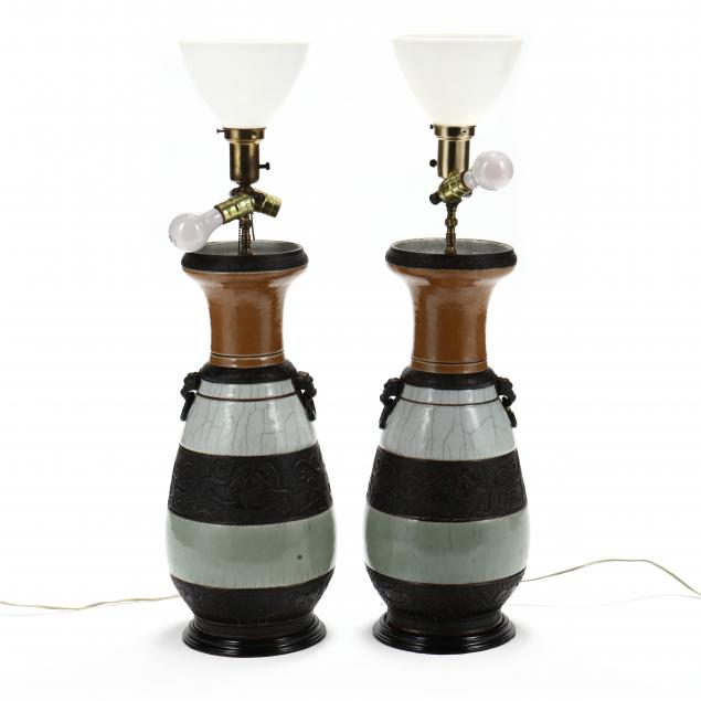 pair-of-large-chinese-three-glaze-vase-table-lamps
