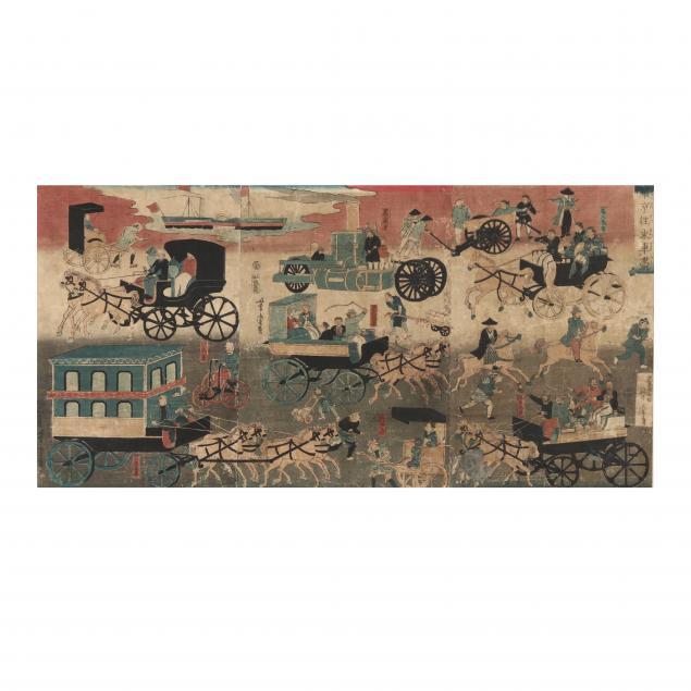 utagawa-yoshitora-japanese-active-1850-80-i-vehicles-on-the-streets-of-tokyo-i