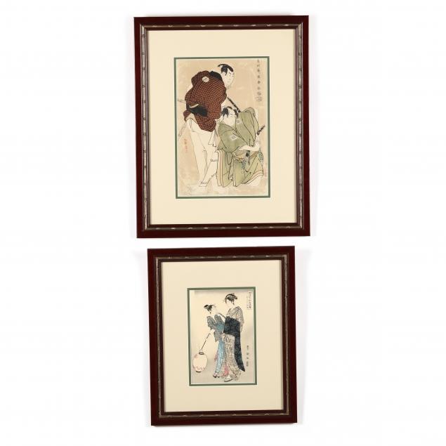 two-japanese-woodblock-prints