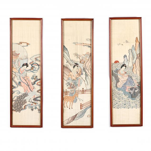 three-chinese-kesi-embroidery-panels