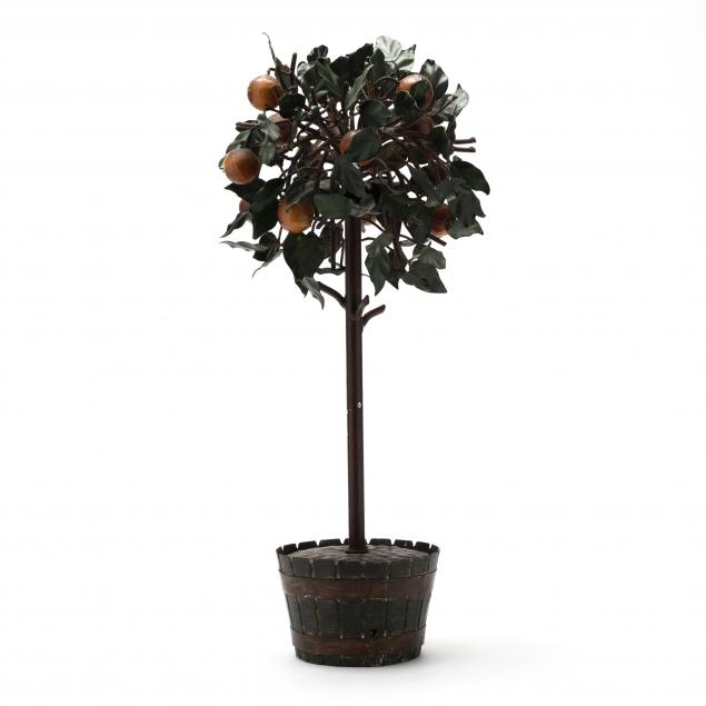 paint-decorated-metal-topiary