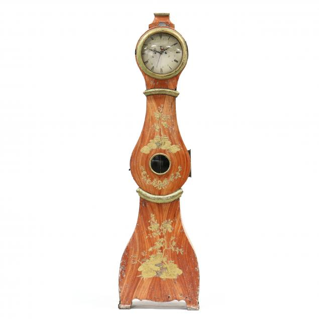 antique-continental-chinoiserie-tall-case-clock