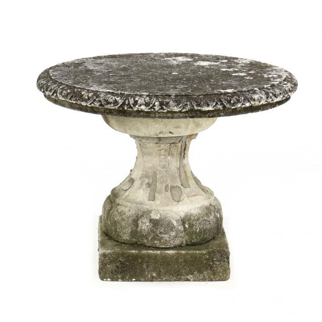 vintage-cast-stone-pedestal-table