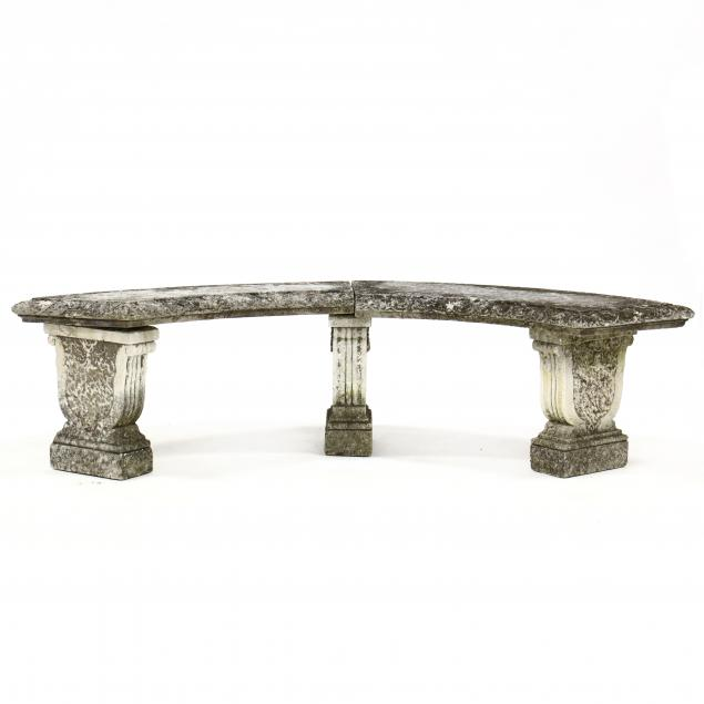 classical-style-curved-cast-stone-garden-bench