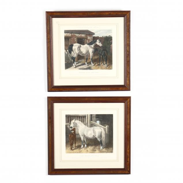 after-j-f-herring-sr-british-1795-1865-two-mare-and-foal-prints-from-i-fores-s-series-of-the-mothers-i