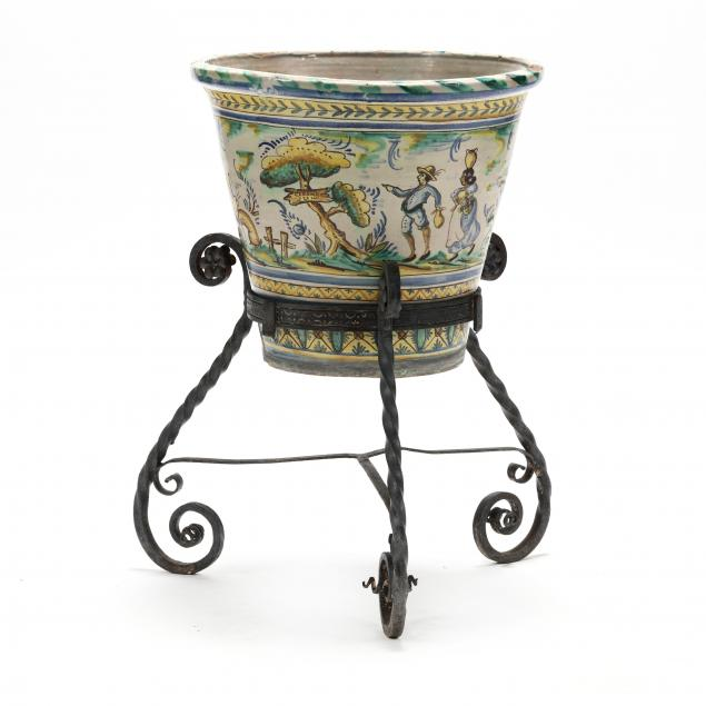 antique-spanish-majolica-planter