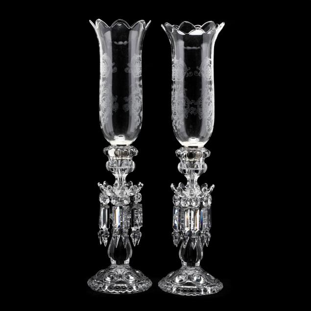 baccarat-pair-of-drop-prism-crystal-candlesticks-with-shades