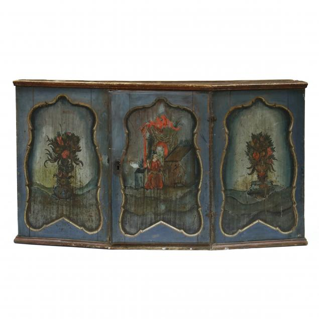 antique-continental-paint-decorated-sideboard