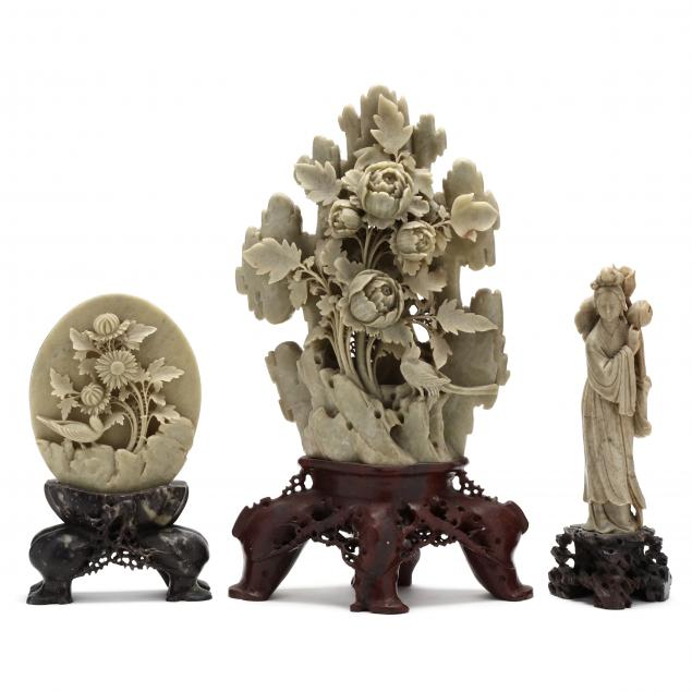 three-chinese-soapstone-carvings