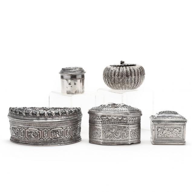 five-antique-asian-silver-boxes