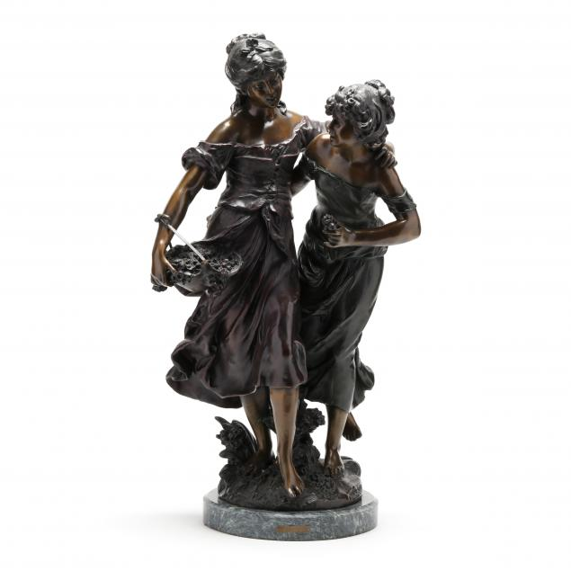 after-auguste-moreau-french-1834-1917-bronze-sculpture-of-two-maidens