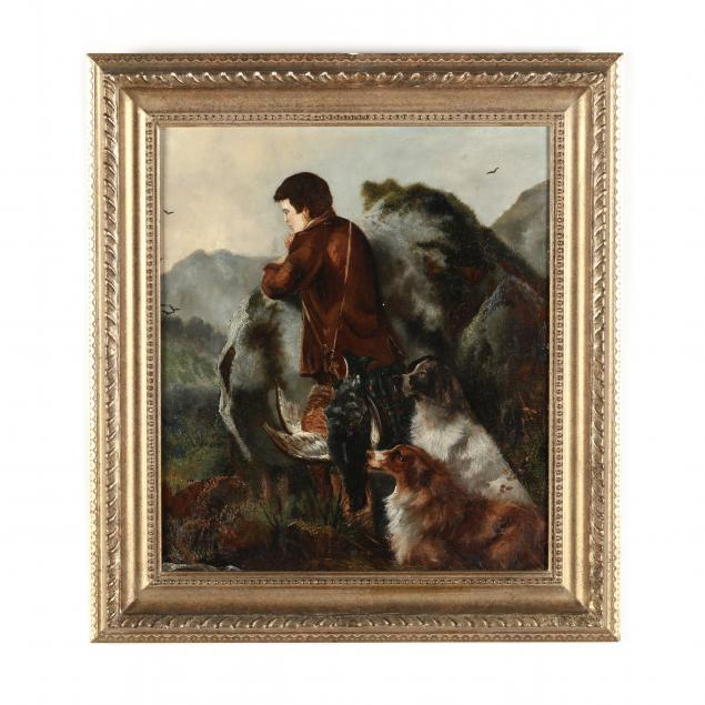 circle-of-robert-cleminson-english-1864-1903-gillie-with-game