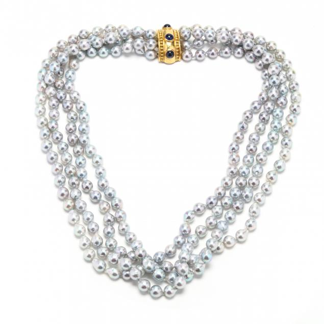 18kt-gold-multi-strand-freshwater-pearl-and-sapphire-necklace-elizabeth-locke