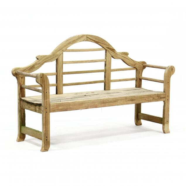 chinese-chippendale-style-garden-bench