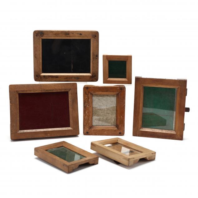 a-collection-of-seven-antique-contact-print-frames