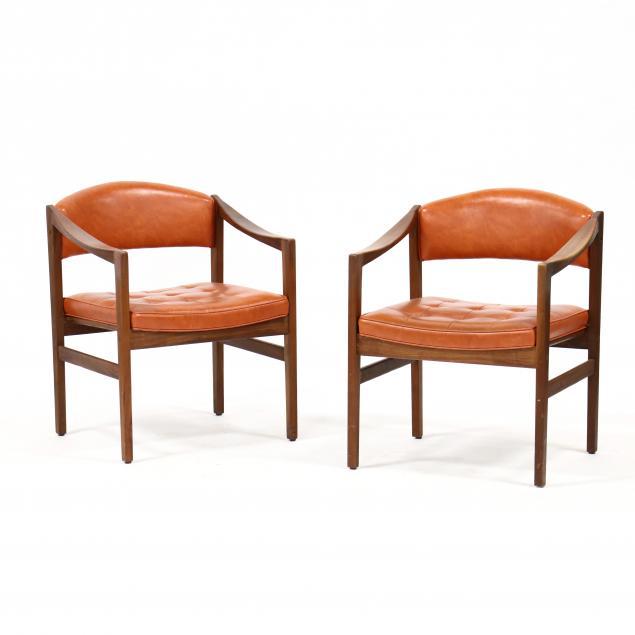 pair-of-vintage-teak-arm-chairs