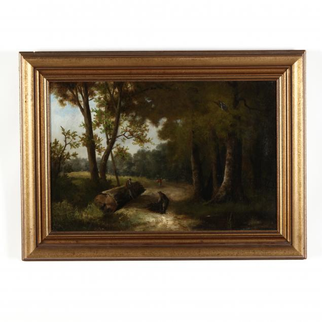 english-school-19th-century-landscape-with-woodcutters