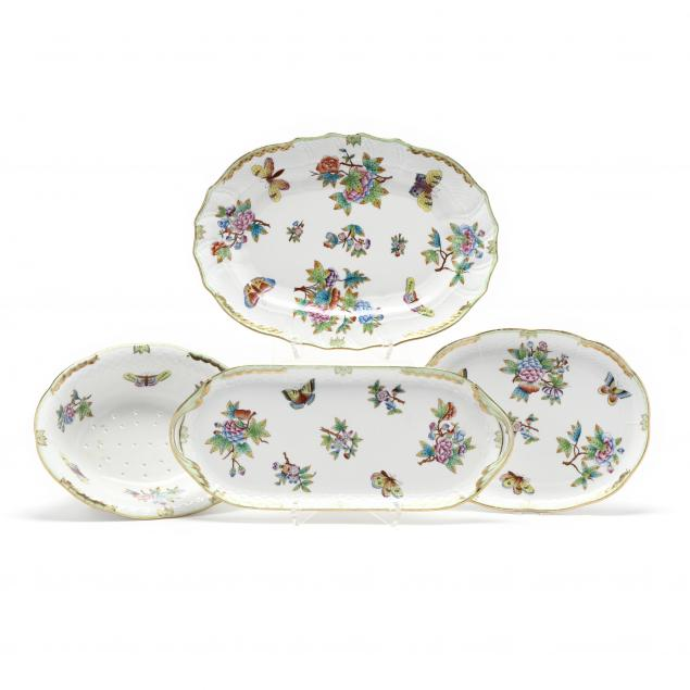 three-herend-i-queen-victoria-i-serving-items