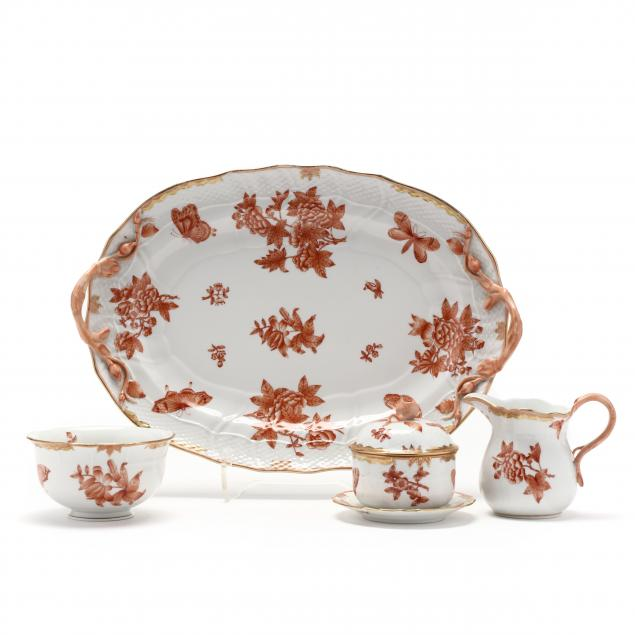 herend-i-chinese-bouquet-rust-i-partial-breakfast-set