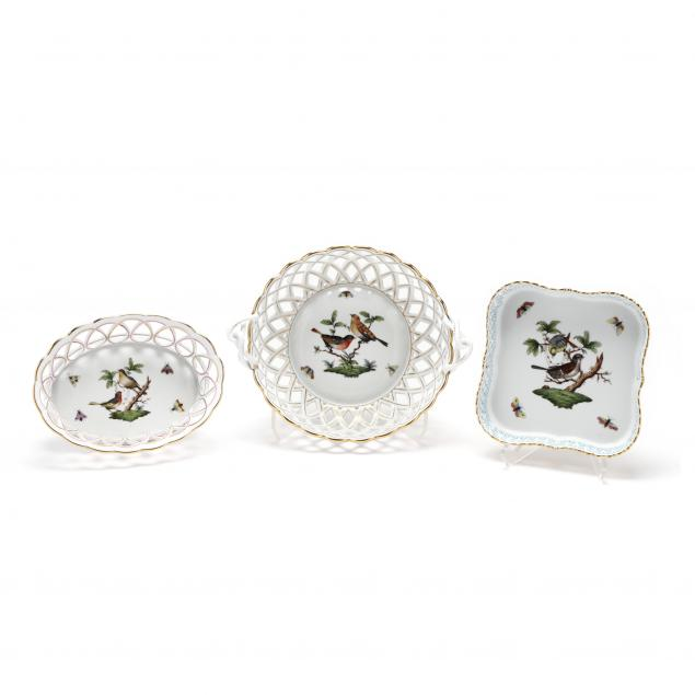 three-herend-i-rothschild-bird-i-reticulated-dishes
