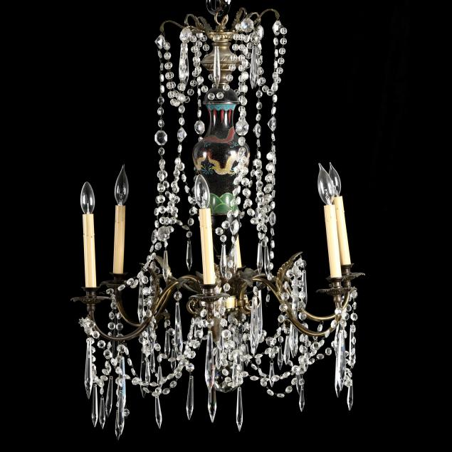 french-classical-style-drop-prism-and-cloisonne-chandelier